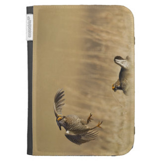 Male prairie chickens at lek in Loup County Kindle Folio Case