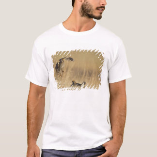 Male prairie chickens at lek in Loup County T-Shirt