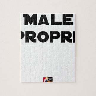MÂLE-PROPRE - Word games - François City Jigsaw Puzzle