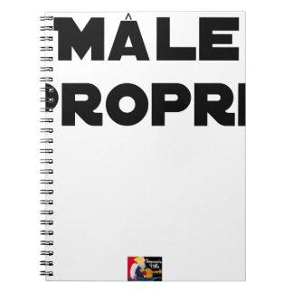 MÂLE-PROPRE - Word games - François City Notebook