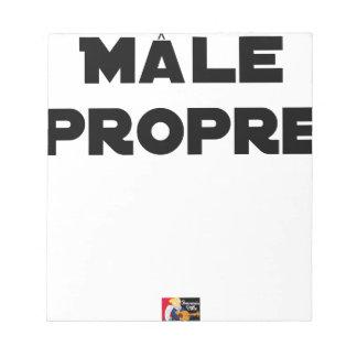 MÂLE-PROPRE - Word games - François City Notepad