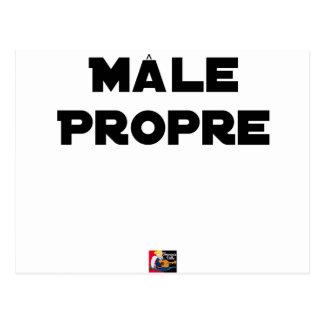 MÂLE-PROPRE - Word games - François City Postcard