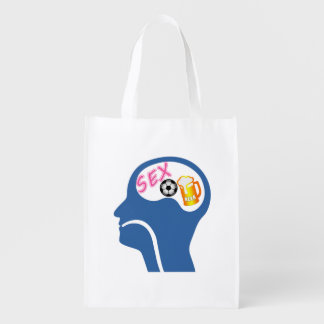 Male Psyche Reusable Grocery Bag