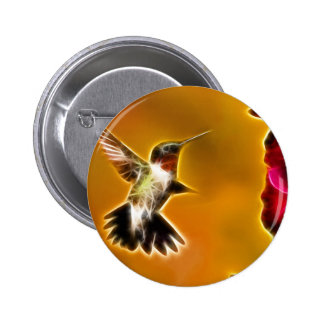 Male Ruby-throated Hummingbird Button