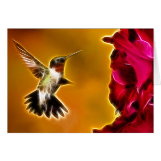 Male Ruby-throated Hummingbird Stationery Note Card