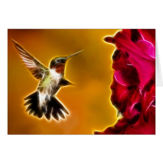 Male Ruby-throated Hummingbird Greeting Card
