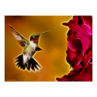 Male Ruby-throated Hummingbird Posters
