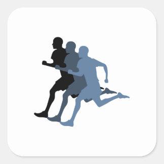 Male Runner Square Sticker
