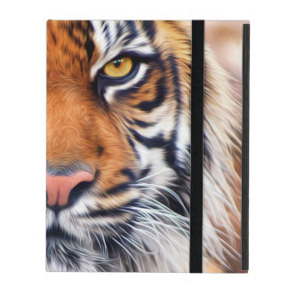 Male Siberian Tiger Paint Photograph Case For iPad