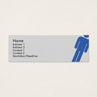 Male Sign - Skinny Mini Business Card