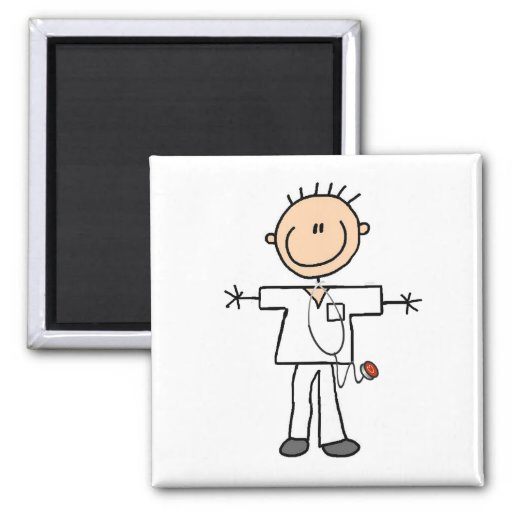 Male Stick Figure Nurse Tshirts and Gifts Refrigerator Magnet