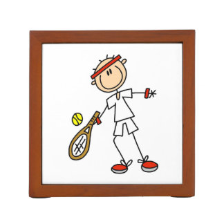 Male Tennis Player Desk Organiser