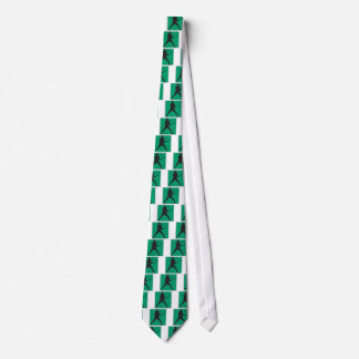 male tennis player silhouette design tie