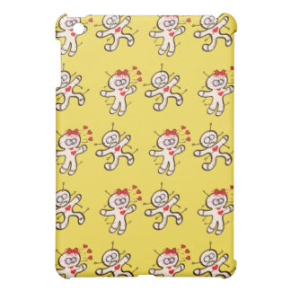 Male voodoo doll running from a female in love iPad mini case