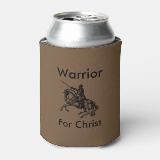 Male Warrior For Christ Can Cooler