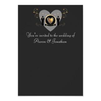 Male wedding invitation