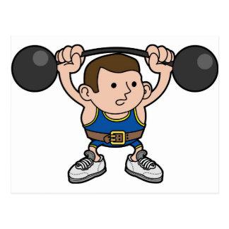 Male weightlifter postcard
