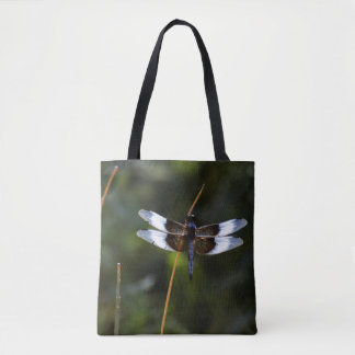 Male Widow Skimmer on a stick Tote Bag