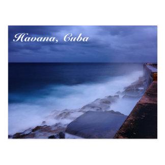 Malecon in Havana, Cuba postcard