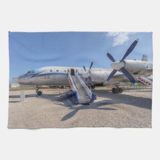 Malev Airlines Ilyushin IL-18 Tea Towel