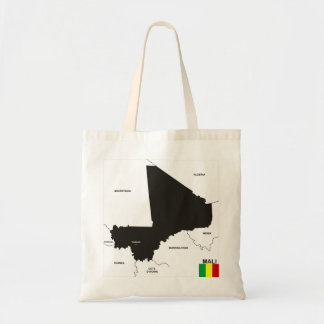mali country political map flag canvas bags