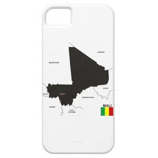 mali country political map flag iPhone 5 cover