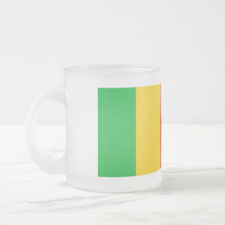 Mali Flag Frosted Glass Coffee Mug