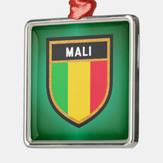 Mali Flag Metal Ornament