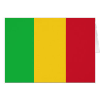 Mali Flag Note Card