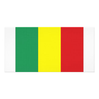 Mali National Flag Personalized Photo Card