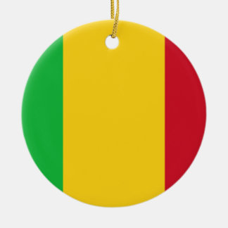Mali National World Flag Ceramic Ornament