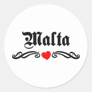 Mali Tattoo Style Classic Round Sticker