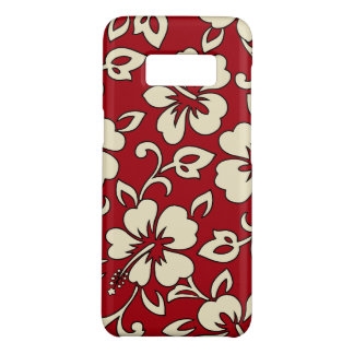 Malia Hibiscus Hawaiian Red Floral Case-Mate Samsung Galaxy S8 Case