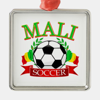 Malian Soccer Designs Metal Ornament