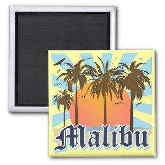 Malibu Beach California CA Square Magnet