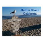 Malibu Beach Postcard- Paradise Cove Seagull Sign