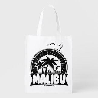 Malibu California Souvenir Beach Reusable Grocery Bag