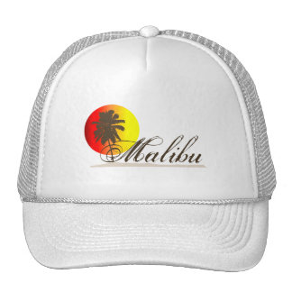 Malibu California Souvenir Mesh Hats