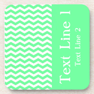 Malibu Seafoam Wave Chevron customizable Coaster