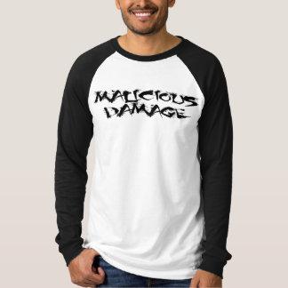 MALICIOUS DAMAGE Baseball T-shirt