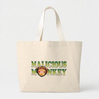 Malicious Monkey Canvas Bags