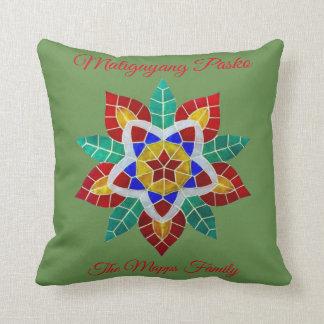 "Maligayang Pasko ""green Parol"" theme Cushion"