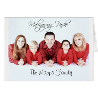 Maligayang Pasko means Merry Christmas Family Card