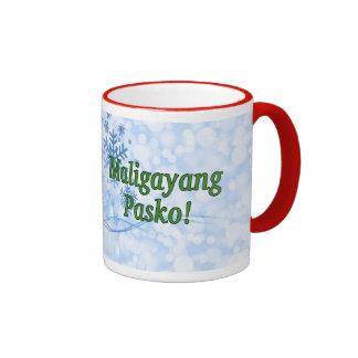 Maligayang Pasko! Merry Christmas in Tagalog gf Ringer Mug