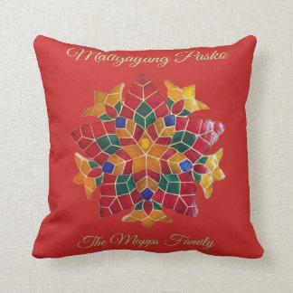 "Maligayang Pasko with ""Parol"" theme Cushion"