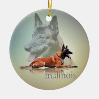 Malinois - Belgian shepherd -Mechelaar -Maligator Ceramic Ornament
