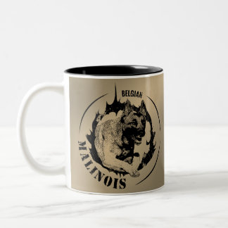 Malinois - Belgian shepherd -Mechelaar -Maligator Two-Tone Coffee Mug
