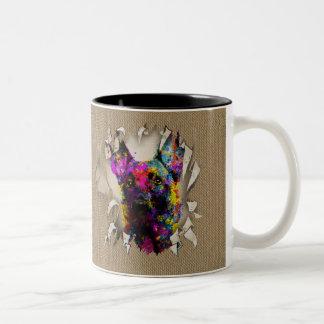 Malinois Puppy - Belgian shepherd -Mechelaar Two-Tone Coffee Mug