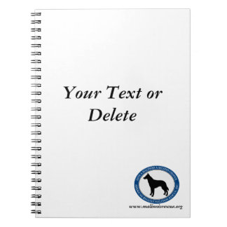 Malinois Rescue Logo, Note Book