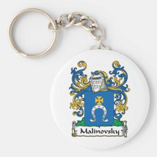 Malinovsky Family Crest Basic Round Button Key Ring
